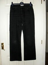 LADY'S BLACK DENIM STRETCH WIDE LEG BOOTLEG BOOTCUT JEANS BY PER UNA SIZE 10 M