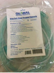 Global Medical Products 7FT Adult Stay-Soft Nasal Oxygen Cannulas - 3 PACK