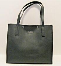 Guess NWT $105 Black Large Shopper Shoulder Tote Snap Closure Faux Leather