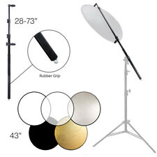 Photography Photo Video Studio 5 Color Collapsible Reflectors w/ Holder Bar Kit