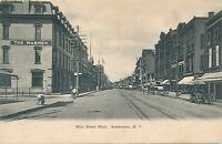 AMSTERDAM NY – Main Street West showing The Warner - udb (pre 1908)