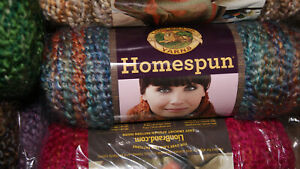 Lot of 14 Skeins, Lion Brand Homespun - Asssorted Colors  - ALL NEW!
