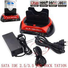 Dual 2.5/3.5 SATA IDE HDD Docking Station Dual Hard Disk Drive Dock e-SATA Hub
