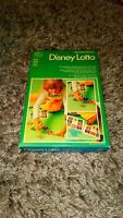 VINTAGE 1976 DISNEY LOTTO GAME WADDINGTONS COMPLETE NICE CONDITION 3+ PRE-SCHOOL