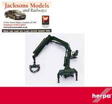 Herpa 051491 Hiab Loading Crane with Log Pickup Black 1:87 Scale