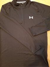 Under Armour Heat GearTech 1/4Zip L/S Black Training Shirt 1242220 Mens Sm only