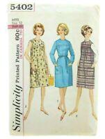 "Simplicity Vintage 1960's Bust 32"" Dress Jumper Misses Juniors Sewing Pattern"