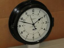 "CHELSEA SHIPS/MILITARY CLOCK~U.S.NAVY~8 1/2"" DIAL~1966~12/24 HR DIAL~RESTORED"