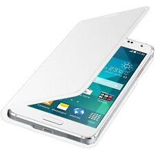Original Samsung Flip Premium Case Cover for Samsung G850 Galaxy Alpha - White