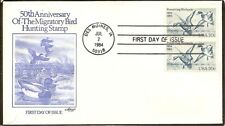 US SC # 2092 Waterfowl Preservation Act FDC .Pair,  Artmaster Cachet .