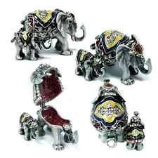 Elephant Baby Elephant & Mother Trinket Box w/ Austrian Crystal