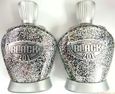 LOT OF 2 BLACK 20x Bronzer Tanning Bed Lotion by Designer Skin