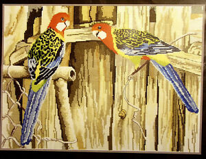 Rosella Parrots - A Little Saucy - Semco Artists Series counted cross-stitch kit