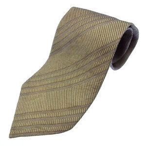 Giorgio Armani Neck Tie Beige Mens Authentic Used Y2397