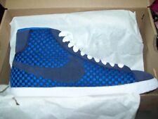 NEW NIKE Blazer Mid Woven Basketball Shoes Mens Sz 8  Blue 555093-400