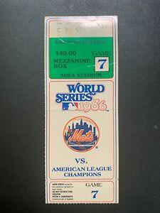 WORLD SERIES 1986 GAME 7 NEW YORK METS TICKET STUB