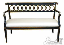 L46326: Maitland Smith Regency Style #8105-45 Black & Gold Settee Bench ~ New