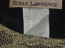 SUSAN LAWRENCE NudeLaceBlackLinedStretch SzXL EUC
