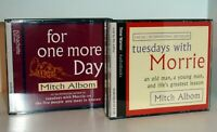 MITCH ALBOM - For One More Day & Tuesdays With Morrie - 2 CD Audio Books