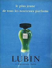 PUBLICITE ADVERTISING 015  1956  LUBIN  parfum GIN FIZZ