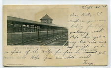 North Avenue East Bound Depot Railroad New Jersey Plainfield NJ 1905 postcard
