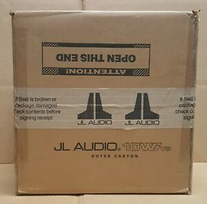 """JL Audio 10W6V3-D4 (92140) 10"""" Dual 4-ohm Subwoofer * NEW in OEM PACKAGING *"""