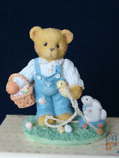 Cherished Teddies - Donald -Boy Bear with Pull-Toy Bunny Figurine- 103799 - 1994