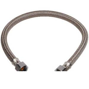 NEW BRASSCRAFT 1/2 in. FIP x 1/2 in. FIP x 16 in. Braided Polymer Faucet Connect