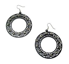 Black Crystal Diamante Drop Dangle Hook Earrings Women Ladies Girls Jewellery UK