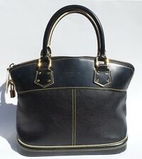 LOUIS VUITTON Suhali Lockit PM Black Gold Studded Goatskin Limited Ed Satchel GC