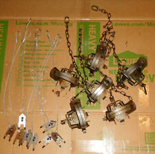 Used Lot of 6 Duke #2 Coil Spring Traps w 8 Anchors Coyote Bobcat Fox Lynx Otter