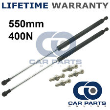 2X UNIVERSAL GAS STRUTS SPRINGS KIT CAR OR CONVERSION 550MM 55CM 400N & 4 PINS