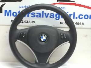 2009 BMW 3 SERIES E90 LEATHER MULTIFUNCTION STEERING WHEEL WITH BAG 6772147