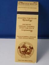 THE OLD MILL RESTAURANT TORONTO MATCHBOOK VINTAGE CANADA ADVERTISING