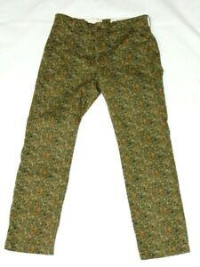 Levi's men's pants size 32 waist 30 inseam camo green cotton blend