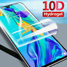 For Huawei P20 P30 P40 Pro Lite Mate P Smart TPU Hydrogel FILM Screen Protector