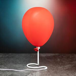 ES - Pennywise Ballon Dekolampe Dekolicht Dekoleuchte Luftballon IT rot