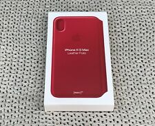 Apple Leather Folio Case For iPhone XS Max - PRODUCT RED