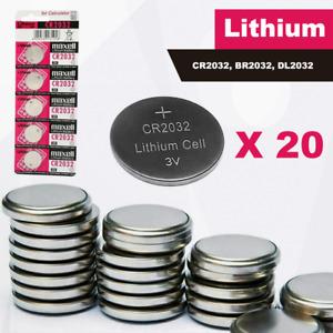 20 X CR2032 Hitachi MAXELL 3V LITHIUM Coin Cell Button Batteries Car Fob Key