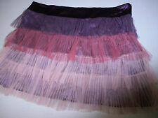 Burner skirt ballerina inspired satin purple sheer tulle pleated skirt fun gay