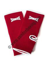 Sandee Premium Red & White Ankle Supports (PAIR) MMA Muay Thai Boxing Sport