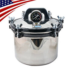 8L Portable Medical Dental Steam Autoclave Sterilizer Stainless Steel Equipment