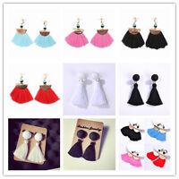 Fashion Bohemia Beads Thread Tassel Drop Dangle Earrings Boho Ethnic Jewelry