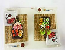 Dollhouse Miniature Artisan Sushi Dinner For Two