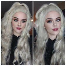 Platinum Pale White Blonde Lace Front Wig Human