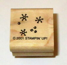 Snowflakes Rubber Stamps New Stampin' Up! Background Snow Winter Retired