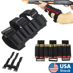 Tactical 8 Round Shotgun Stock Shell Holder Ammo Carrier Hunting Forearm Pouch