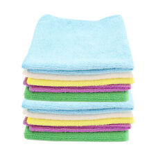 10PK White Glove 30x30cm Cleaning Microfibre Cloth Assorted Colour Towel Wash