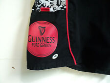 Genuine Pure Guinness Beer Mens Board shorts Black White size 36