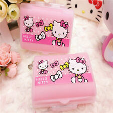 3PCS Pink Hello Kitty Medicine Portable Pill Box Vitamin Storage Organizer Home